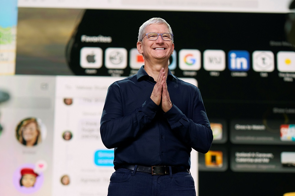 Apple CEO Tim Cook delivers the keynote address during the 2020 Apple Worldwide Developers Conference at Steve Jobs Theatre in Cupertino, California June 22, 2020. — Picture by Brooks Kraft/Apple Inc/Handout via Reuters