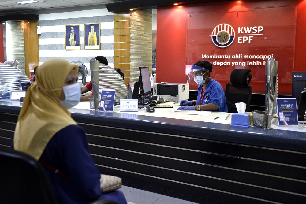 A general view of the Employees Provident Fund's headquarters in Kuala Lumpur June 12, 2020. — Picture by Miera Zulyana