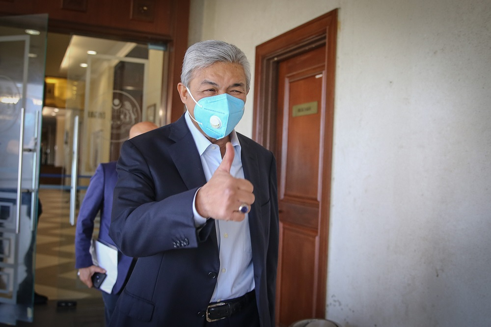 Datuk Seri Ahmad Zahid Hamidi is facing 47 charges — 12 on criminal breach of trust, eight on corruption and 27 on money laundering — involving tens of millions of ringgit belonging to Yayasan Akalbudi.  — Picture by Yusof Mat Isa