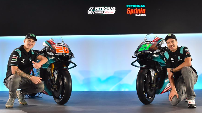 Quartararo and Morbidelli ended day one of the Aragon Grand Prix in second and third place respectively. —  Picture via Facebook/Yamaha Racing