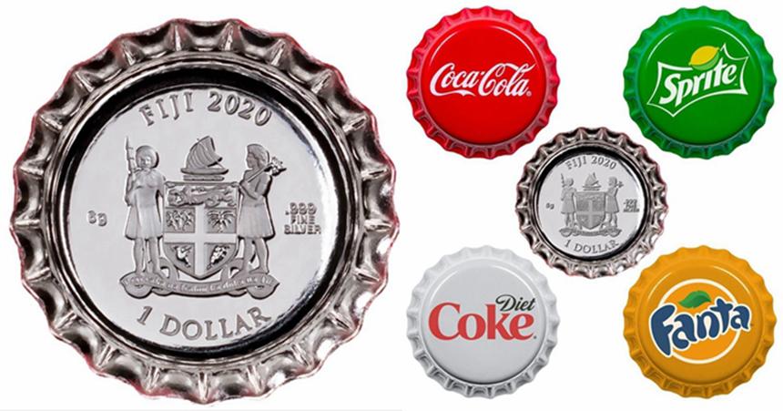 斐济推出的可口可乐瓶盖纪念币不仅吸引了大量的关注,更可以在该国使用该纪念币购买东西。-图片摘自网络-