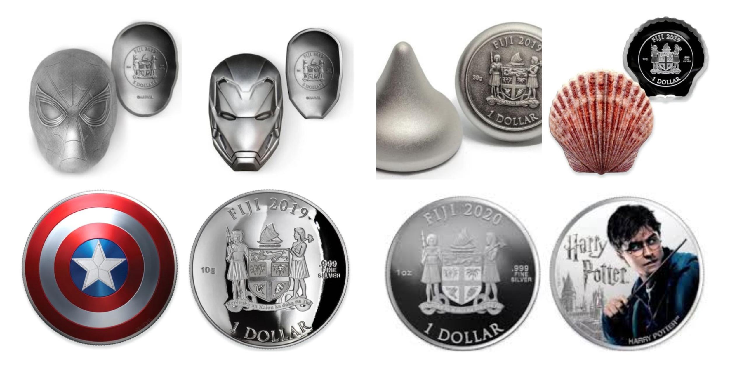 早前,斐济也曾经推出了多种造型独特的纪念币。-图片摘自网络-