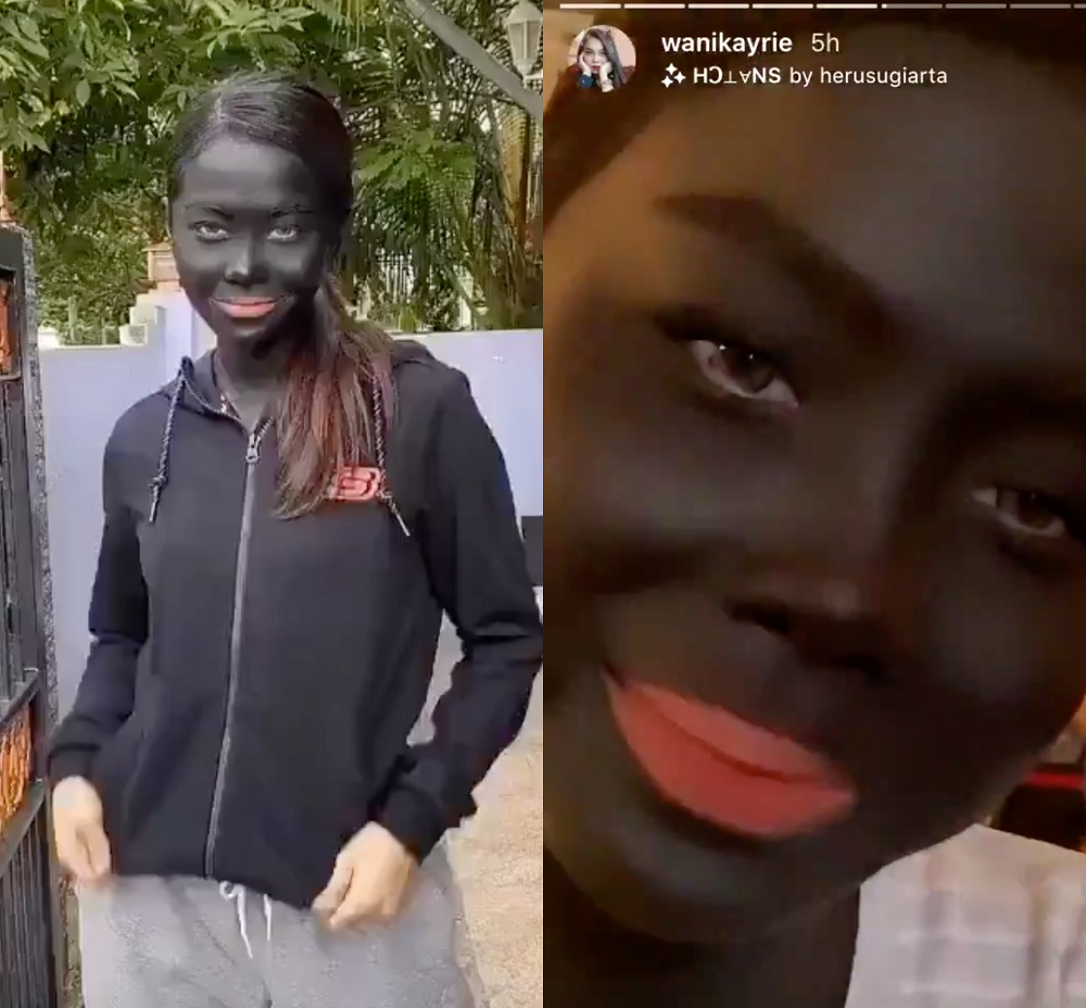 The production company behind 'Dayang Senandung' said they have no plans to reshoot the scenes showing Wani in blackface. — Picture via Instagram/wanikayrie and TikTok/wani.kayrie
