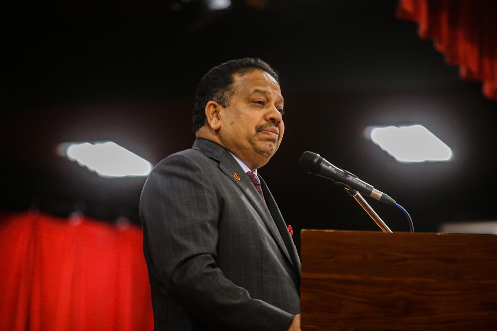 MIC president Tan Sri SA Vigneswaran confirmed that the party has now backtracked from its initial decision to join the Perikatan Nasional (PN) coalition. — Picture by Hari Anggara