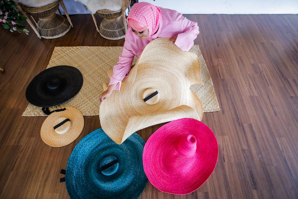 Hanna hanging out with her hats in her studio in Subang Jaya. —Picture by Hari Anggara