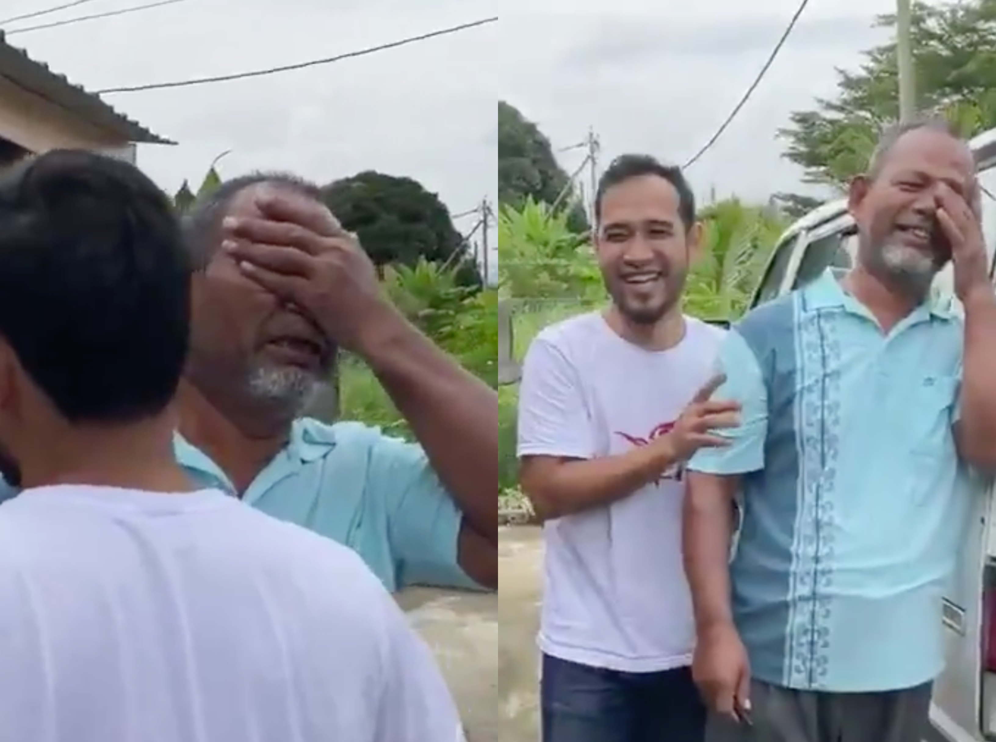The last time Haziq saw his dad cry was when he scored 10As for his SPM seven years ago. — Screengrabs from Twitter/haziqsapu