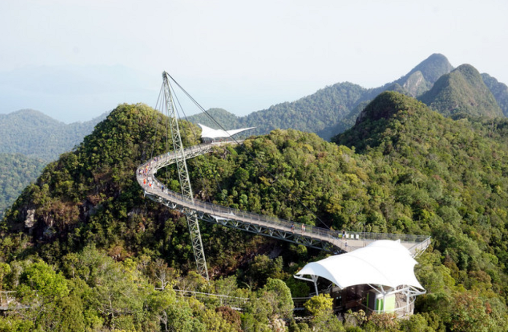 A view of the Sky Bridge and SkyCab at the top of the Machincang mountain in Langkawi January 17, 2020. Located at the top of the Machincang mountain, the 38-metre long and 30-metre wide Eagle Nest Skywalk began construction last year at a cost of RM30 million. — Bernama pic