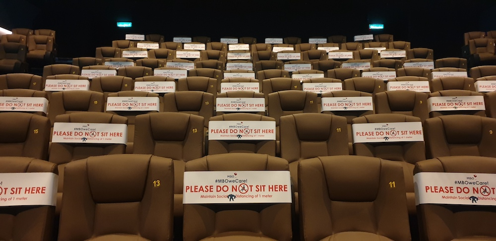 MBO Cinemas new seating arrangements in the new normal. — Picture courtesy of MBO Cinemas