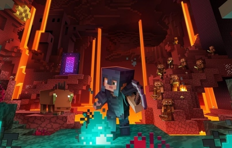 The fiery depths and their peculiar inhabitants await in the 'Minecraft' Nether Update. — Picture courtesy of Mojang Studios / Xbox Game Studios
