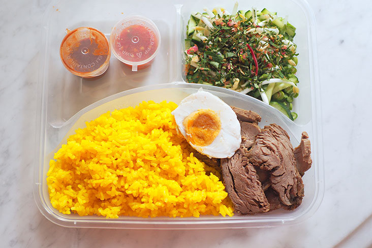 A signature dish from Dapur Mcda is their 'nasi kerabu kuning' which has subtle and more refined flavours