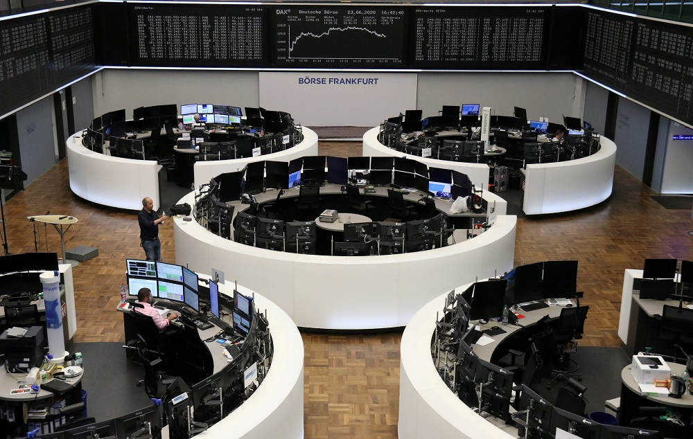 The German share price index DAX graph is pictured at the stock exchange in Frankfurt June 23, 2020. ― Reuters pic