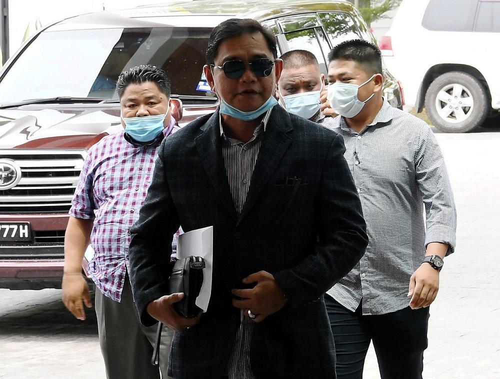 Datuk James Ratib arrives for a press conference in Kota Kinabalu June 15, 2020. — Bernama pic