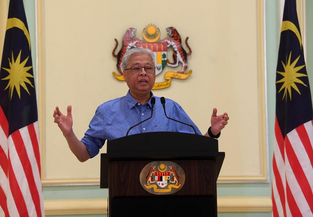 Senior Minister Datuk Seri Ismail Sabri Yaakob at a press conference in Putrajaya June 19, 2020. — Bernama pic