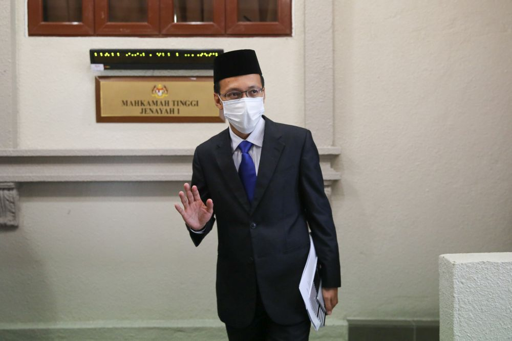 Witness Faisalludin Mohamat Yusuff is pictured at the Kuala Lumpur High Court June 17, 2020. — Picture by Yusof Mat Isa