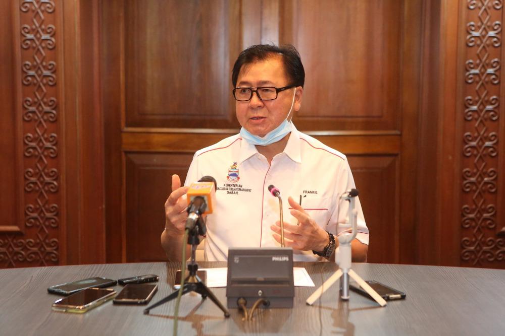 Sabah DAP acting chairman Datuk Frankie Poon Ming Fung will be defending his Tanjong Papat seat under Warisan Plus. — Picture via Facebook/Frankie Poon Ming Fung