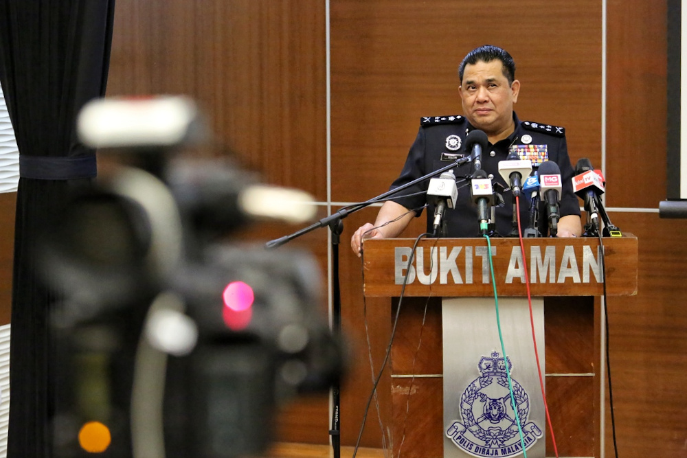 Bukit Aman Criminal Investigations Department director Datuk Huzir Mohamed said investigations into Al Jazeera had started on June 10 for its purportedly inaccurate coverage of Malaysia's treatment of undocumented migrants, with the police receiving five complaints to date. — Picture by Choo Choy May