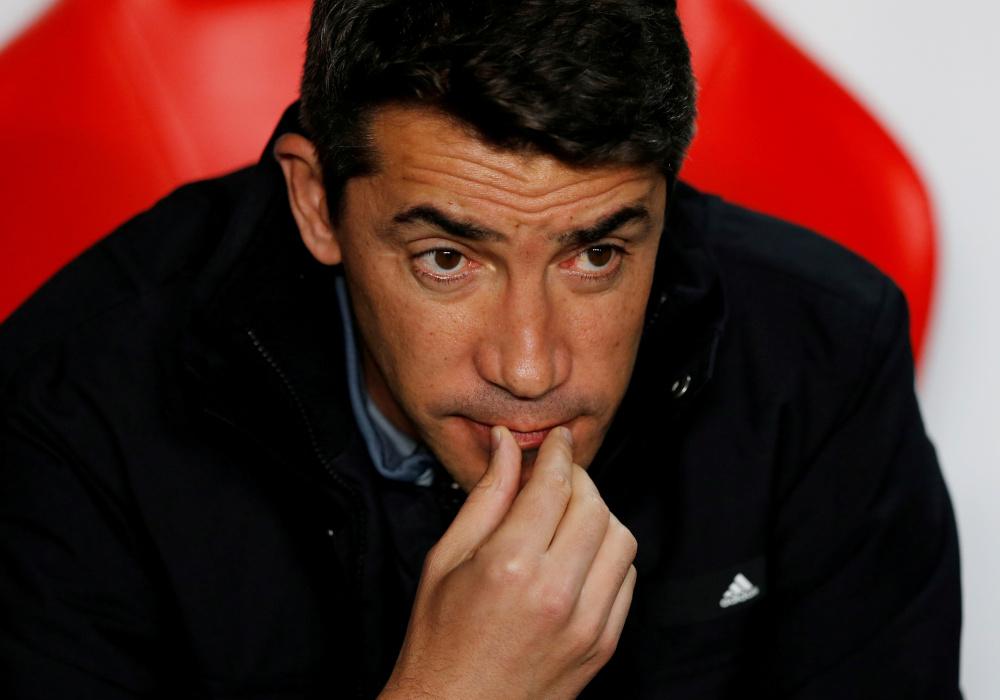Benfica coach Bruno Lage before the match against Olympique Lyonnais at Estadio da Luz, Lisbon, Portugal, October 23, 2019. — Reuters pic