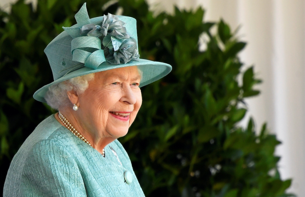 Britain's Queen Elizabeth attends a ceremony to mark her official birthday at Windsor Castle in Windsor, Britain, June 13, 2020. — Reuters pic