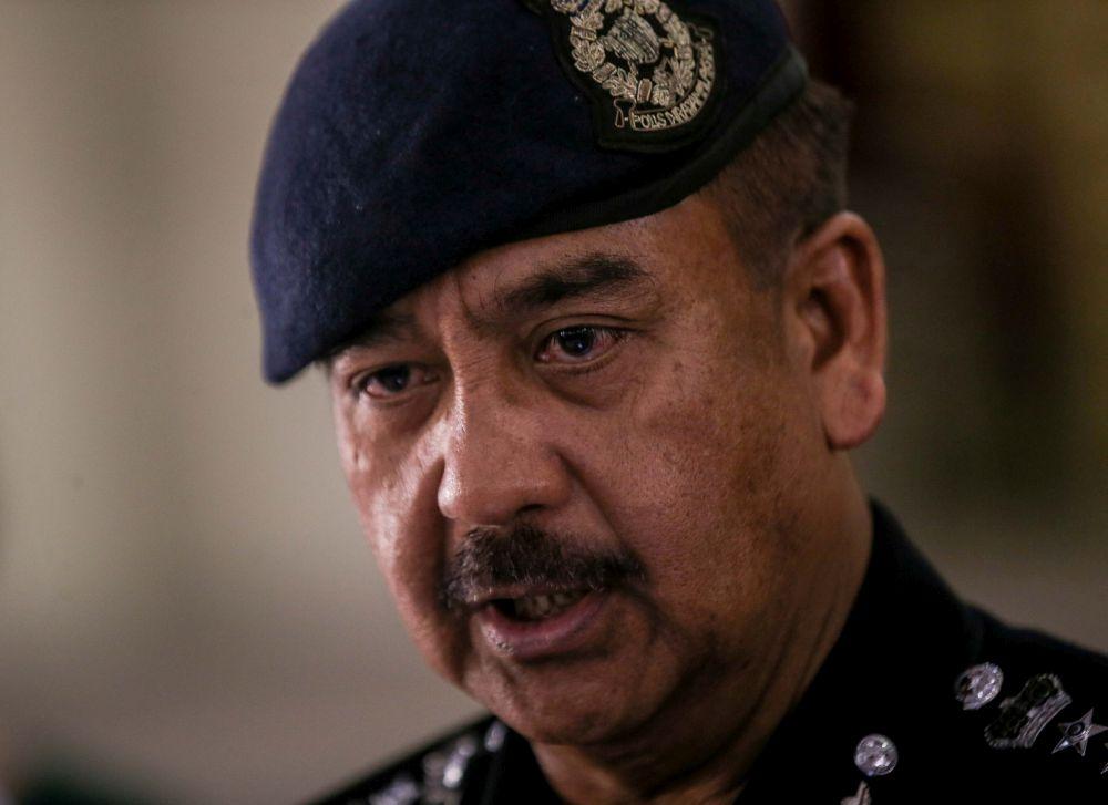 Perak police chief Datuk Razarudin Husain during a visit to SMJK Sam Tet in Ipoh June 29, 2020. — Picture by Farhan Najib