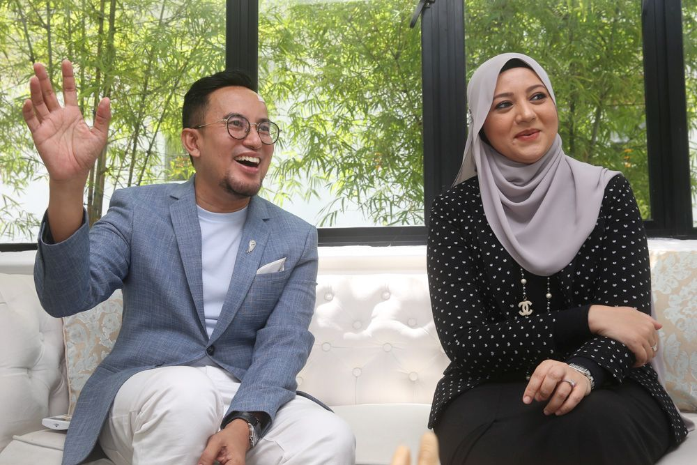 Reka Teemor wedding planners Faiz Sabari (left) and Rozana Mumtaz speak to Malay Mail during an interview June 25, 2020. — Picture by Choo Choy May
