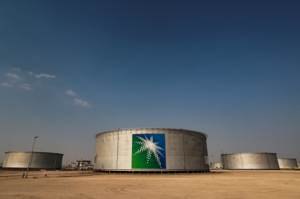 A view shows branded oil tanks at Saudi Aramco oil facility in Abqaiq, Saudi Arabia October 12, 2019. — Reuters pic
