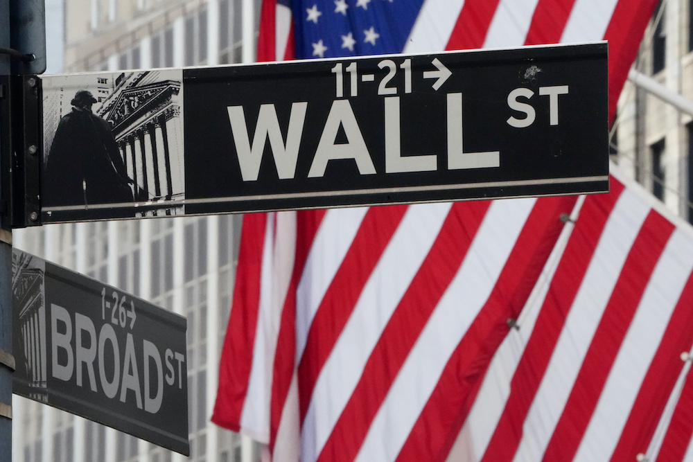 About 15 minutes into trading, the Dow Jones Industrial Average was up 0.6 per cent at 28,163.47. ― Reuters pic