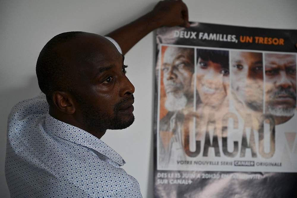 Alex Ogou, Ivorian-French director and producer of the TV soap 'Cacao.' — AFP pic