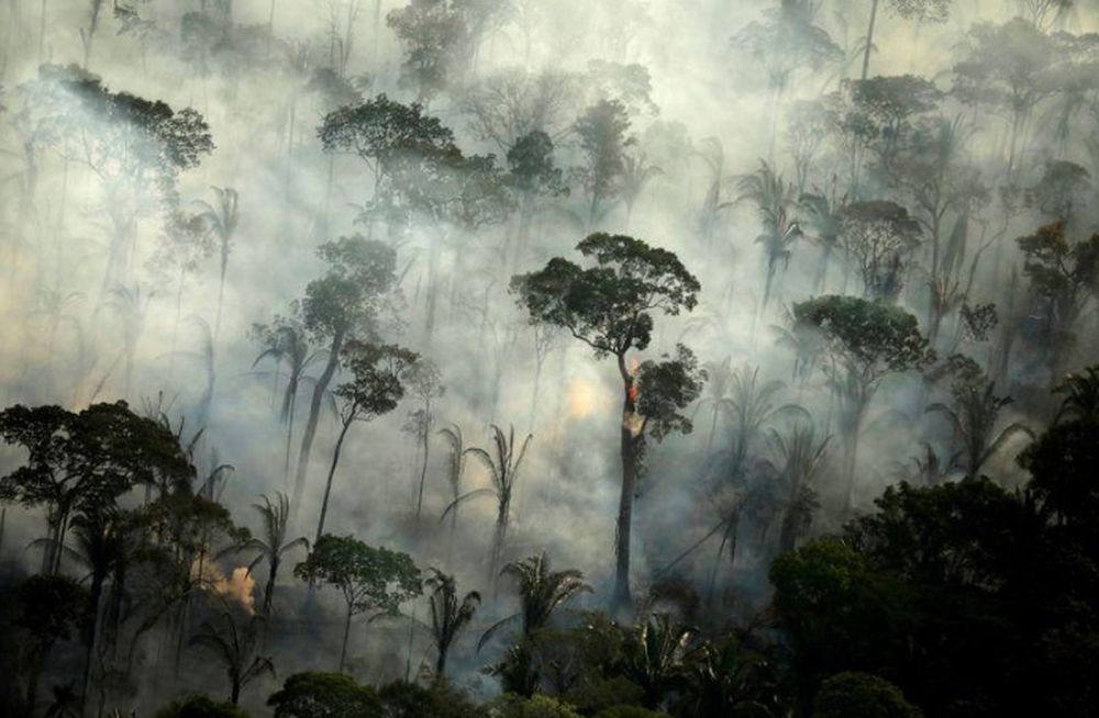 Smoke billows from a fire in an area of the Amazon rainforest near Porto Velho, Rondonia State, Brazil, September 10, 2019. — Reuters file pic