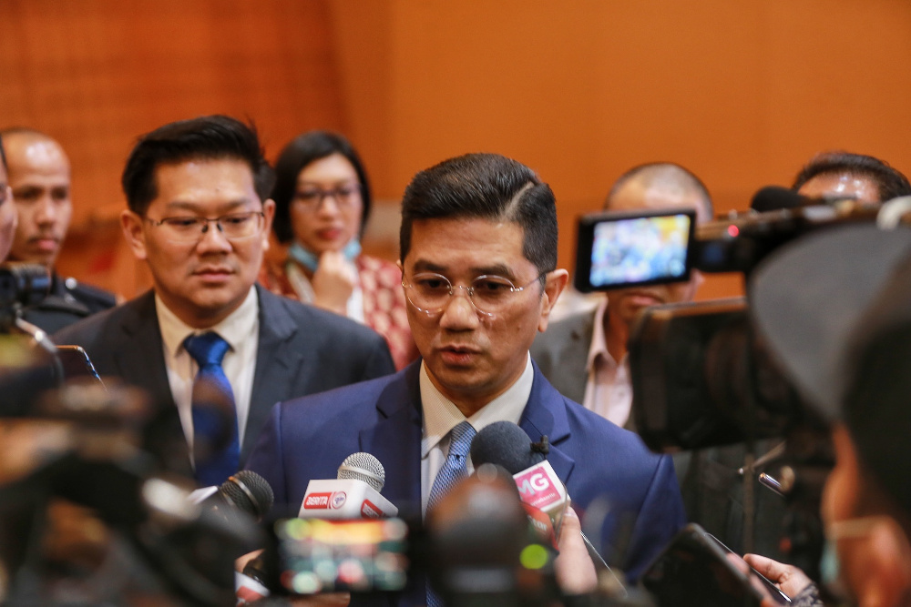 Datuk Seri Mohamed Azmin Ali said the decision to delay the project was made after long deliberations between both countries. — Picture by Ahmad Zamzahuri