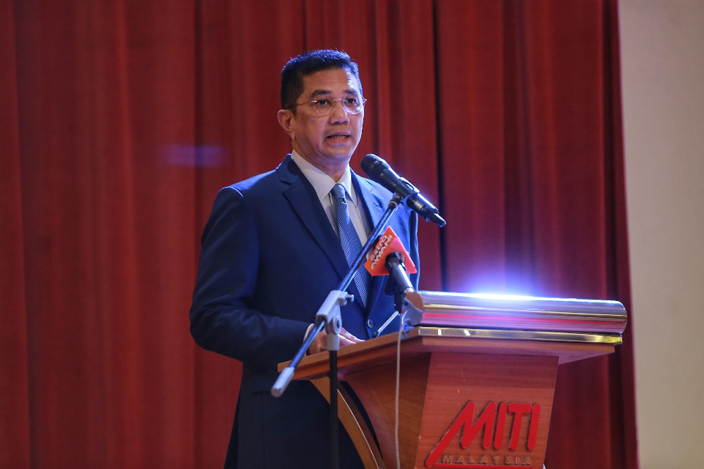 Senior Minister for Economy and the Minister of International Trade and Industry Datuk Seri Azmin Ali is pictured at Miti tower during Miti's Excellent Award Ceremony in Kuala Lumpur, June 17, 2020. — Picture by Ahmad Zamzahuri