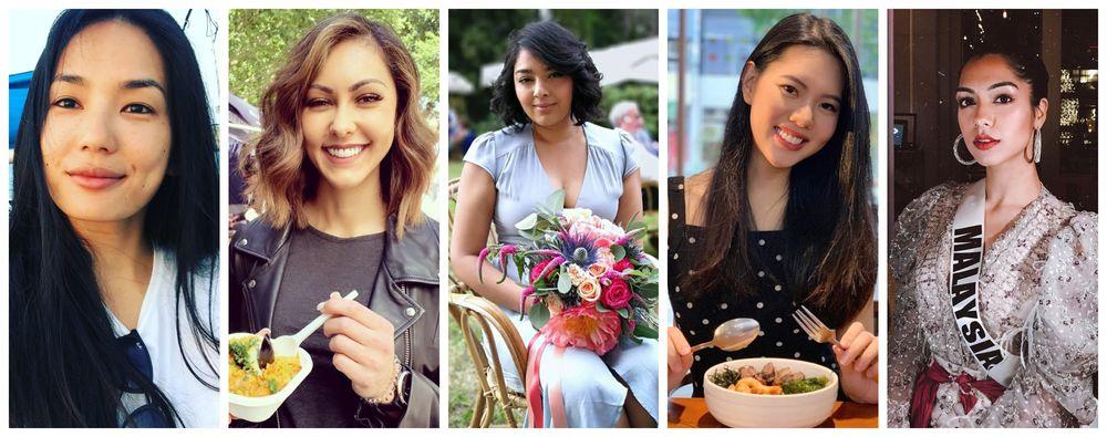 From left: Former Miss Universe Malaysia titleholders Andrea Fonseka, Kimberley Leggett, Nadine Ann Thomas, Jane Teoh and Shweta Sekhon. — Picture from Instagram/Andrea Fonseka, Kimberley Leggett, Nadine Ann Thomas, Jane Teoh, Shweta Sekhon