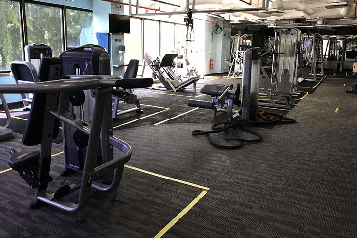 Finally, gyms are allowed to reopen — Pictures by Kenny Mah