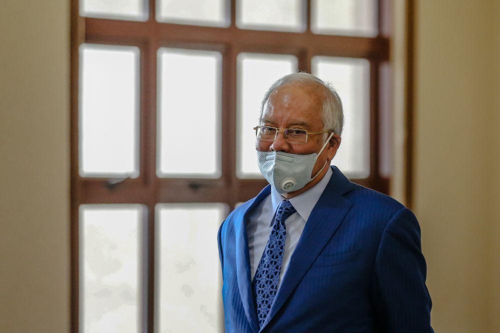 Datuk Seri Najib Razak is pictured at the Kuala Lumpur High Court June 2, 2020. — Picture by Firdaus Latif