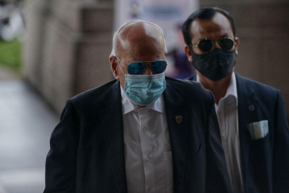 Lawyer Datuk Seri Gopal Sri Ram arrives at the Kuala Lumpur High Court June 16, 2020. — Picture by Shafwan Zaidon