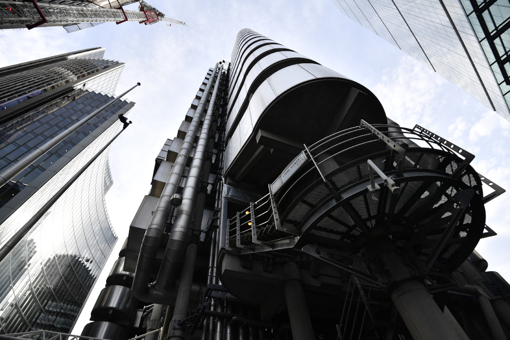 Lloyd's said its Covid-19 claims after reinsurance recoveries totalled £2.4 billion in the first half, pushing it into a pre-tax loss of £438 million. — AFP pic