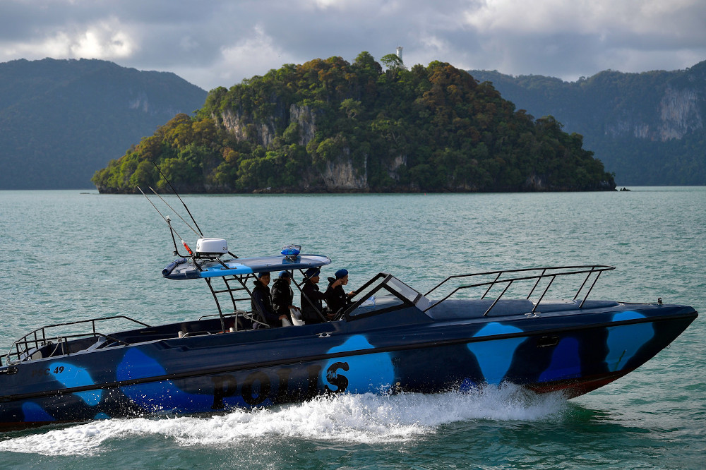 Marine Police patrol the waters of Langkawi to prevent people smuggling activities of illegal immigrants June 26, 2020. — Bernama pic