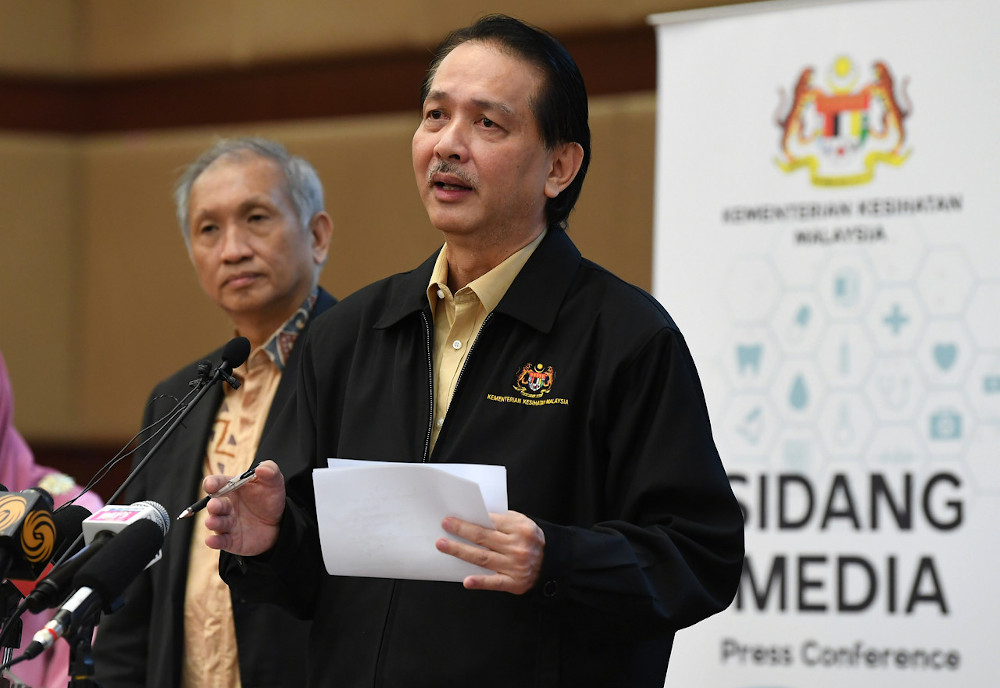 Health director-general Datuk Dr Noor Hisham Abdullah at the Covid-19 daily media conference in Putrajaya June 14, 2020. — Bernama pic