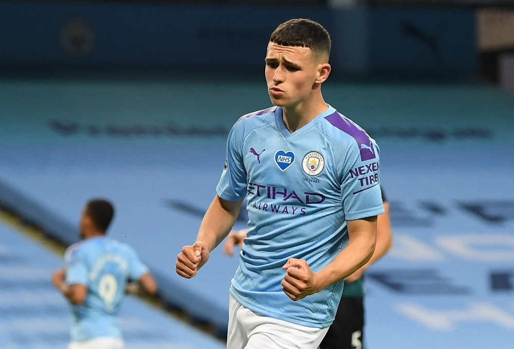 Manchester City's Phil Foden was back into the England squad in November last year, when he scored his first two international goals against Iceland. ― Reuters pic