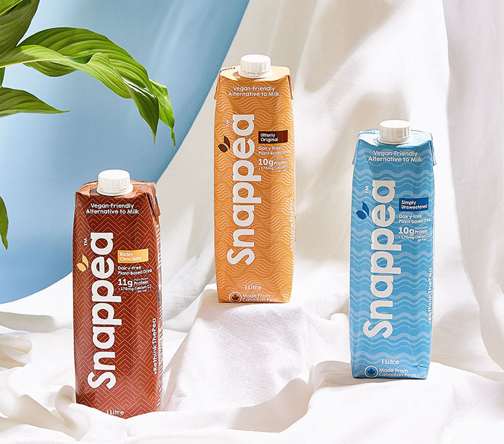 Homegrown pea milk brand Snappea currently comes in three flavours: Utterly Original, Richly Chocolate and Simply Unsweetened. —  Pictures courtesy of Snappea