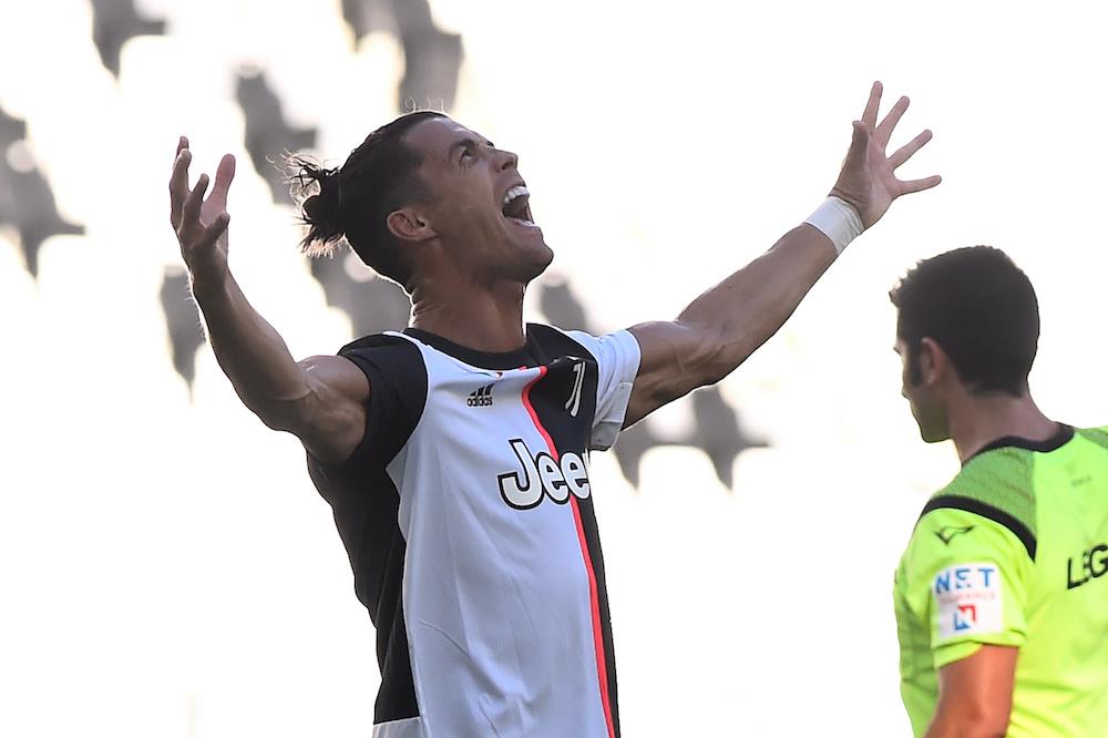 Juventus' Cristiano Ronaldo celebrates scoring their third goal in Turin July 4, 2020. — Reuters pic