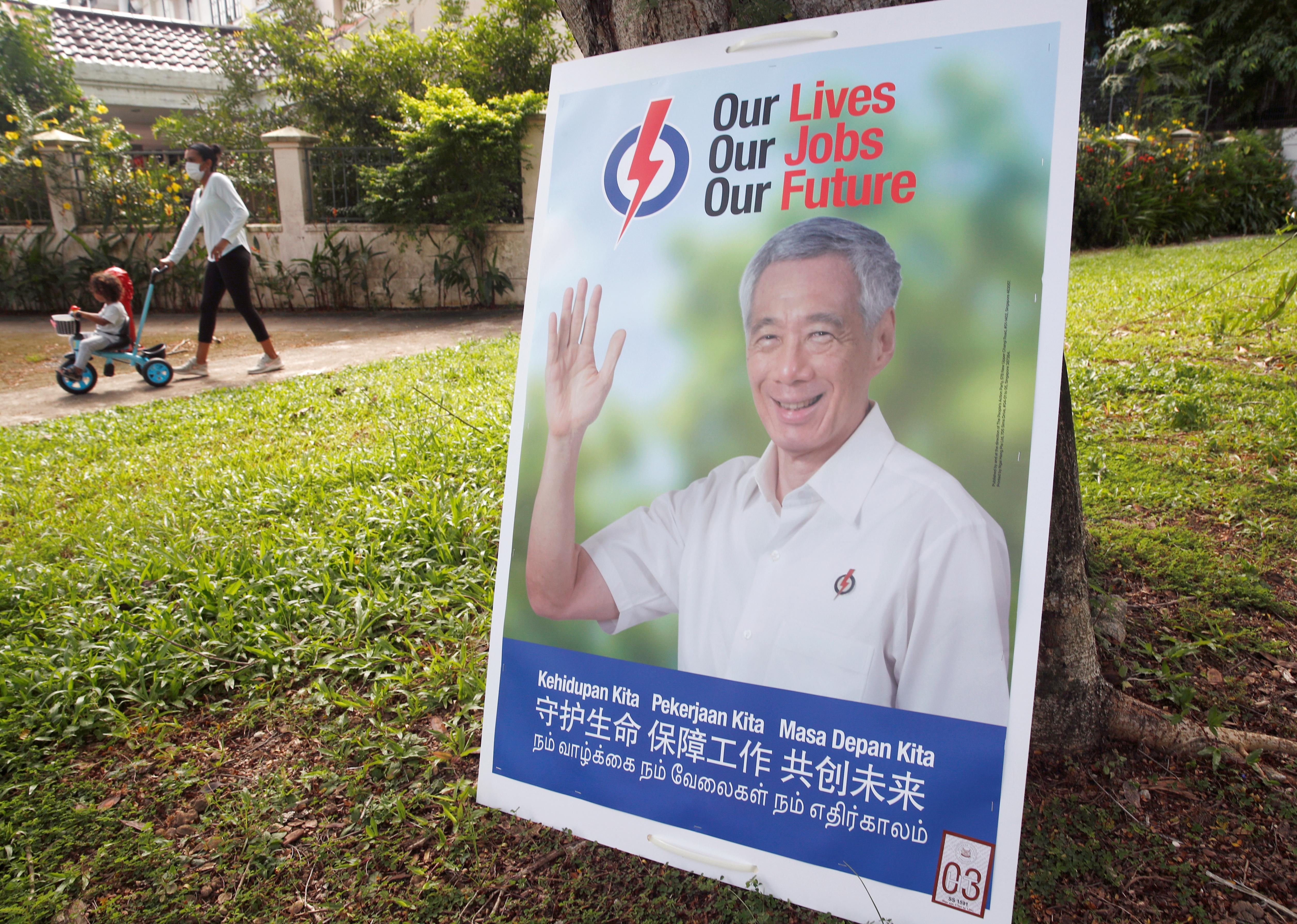 新加坡第13届大选选战开跑,这次共有11个政党、192名候选人角逐全国31个选区的93个议席。-路透社-