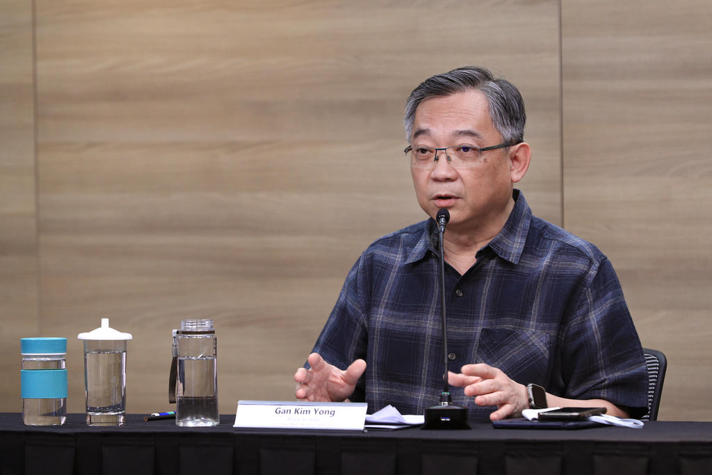 Health Minister Gan Yong announced the new rules for religious places of worship today. —TODAY pic