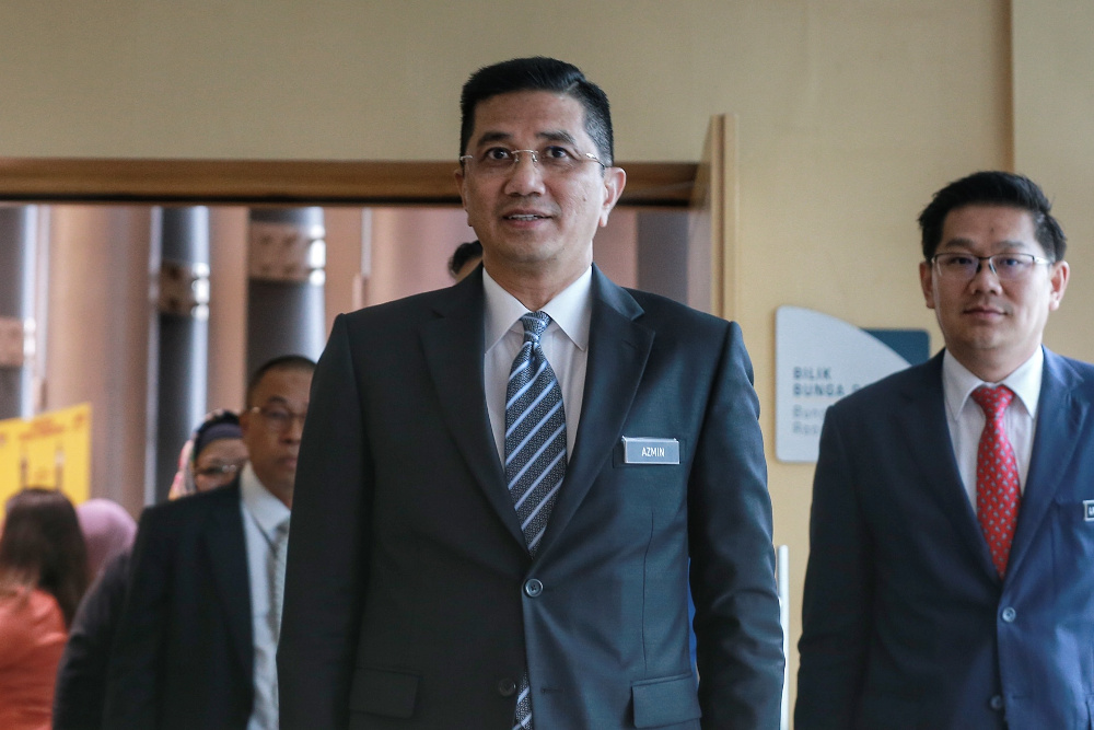 Mohamed Azmin said areas which need trained workers include automation, logistics, chemical and wastewater treatment, and printing technology. — Picture by Ahmad Zamzahuri