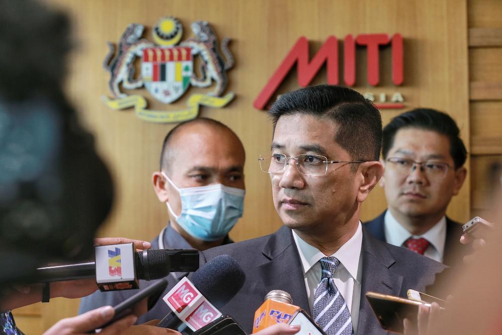 Senior Minister cum Miti Minister Datuk Seri Mohamed Azmin Ali attends the ISO 37001:2016: Anti-Bribery Management System certificate presentation ceremony at the Menara Miti July 8, 2020. — Picture by Ahmad Zamzahuri