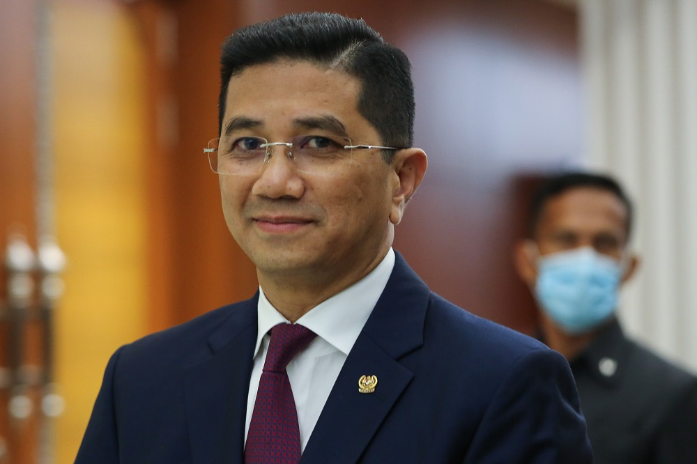 Minister of International Trade Industry Datuk Seri Mohamed Azmin Ali is pictured at Parliament in Kuala Lumpur July 23, 2020. — Picture by Yusof Mat Isa