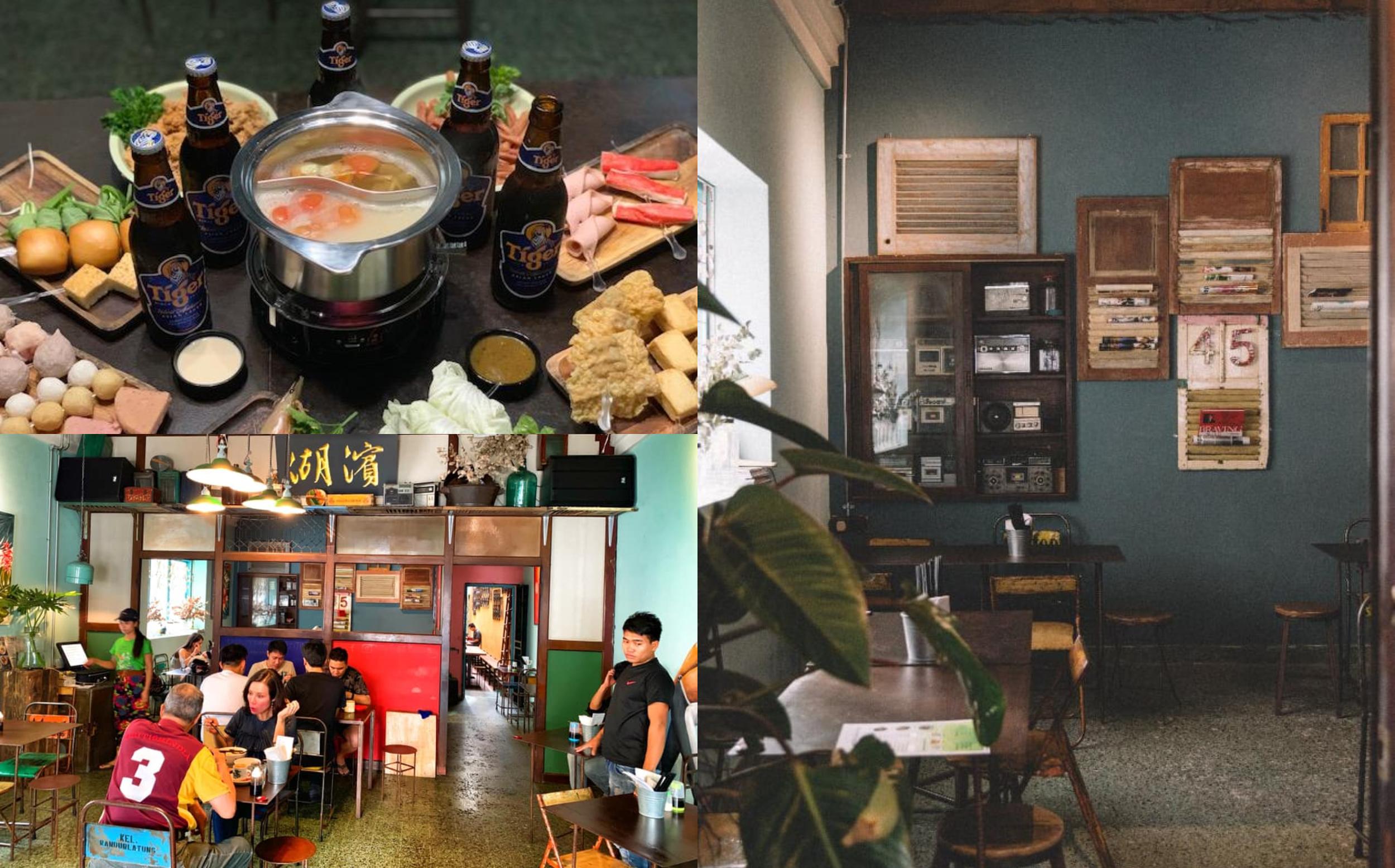 45 Speak Vezy Bar除了售卖鸡尾酒、啤酒及红酒外,最大的特点是有卖火锅。