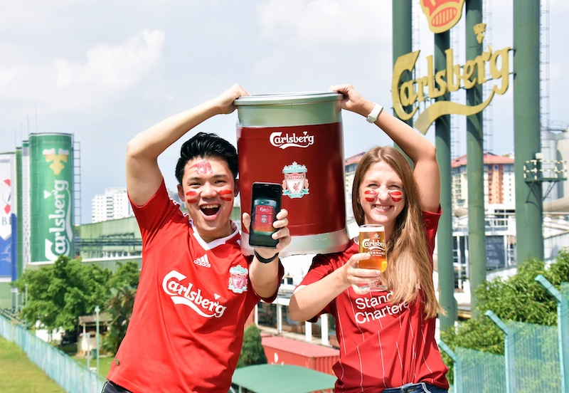 Carlsberg Malaysia is offering an additional 100 Red Champions Kits, a virtual Red Keg consumers can purchase for RM500 that comes with two limited-edition Liverpool FC Carlsberg glasses and 100 Carlsberg beers. — Picture courtesy of Carlsberg Malaysia