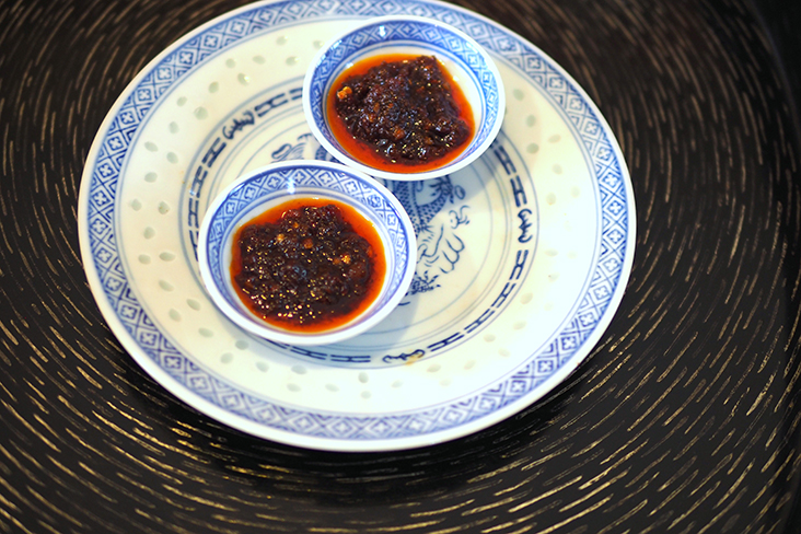 The Hong Kong-style dried chilli shrimp 'sambal' is great with anything from 'chee cheong fun' to rice or dishes