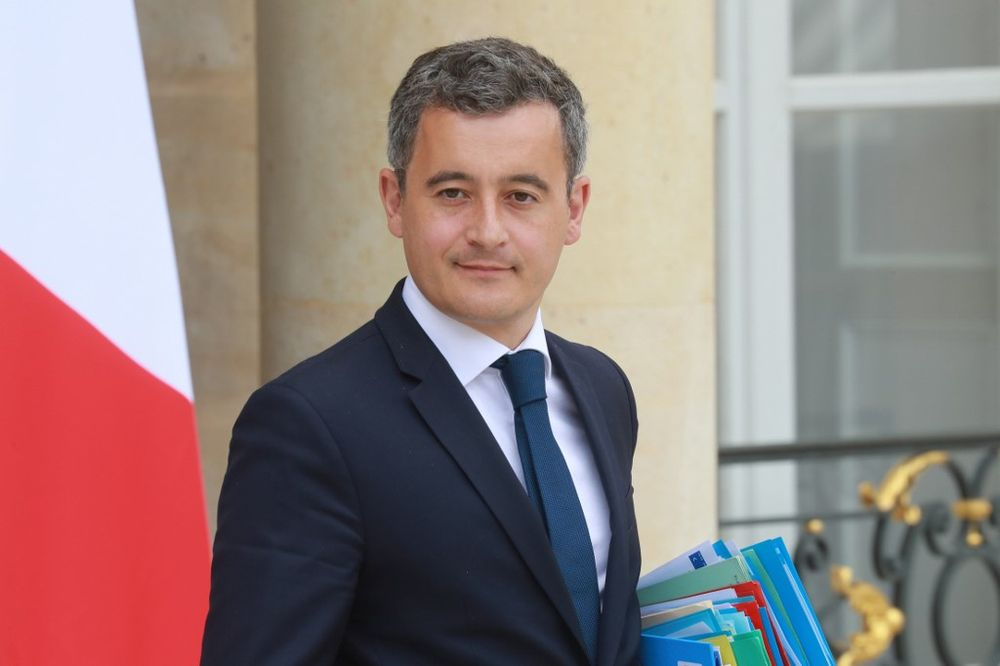 French Interior Minister Gerald Darmanin leaves after the weekly cabinet meeting at the Elysee Palace in Paris, on July 15, 2020. — AFP pic