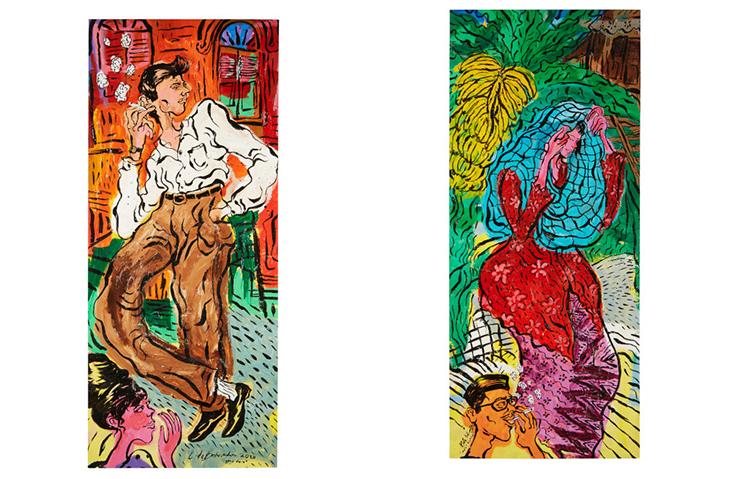 Two pieces of nostalgic charm: 'Lagak Hero' (left) and 'Malu-malu Kucing' (right)